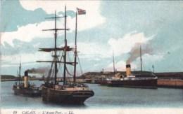 62 - Pas De Calais - CALAIS  - L Avant Port ( Remorqueur , Voilier ) - Calais