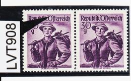 LTV908 ÖSTERREICH 1950 Michl 900 PLATTENFEHLER FARBPUNKT IM Ö ** Postfrisch - Abarten & Kuriositäten
