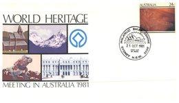 (87) Australia - 1981 - World Heritage Meeting - Ersttagsbelege (FDC)