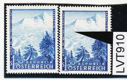 LTV910 ÖSTERREICH 1958 Michl 1040 PLATTENFEHLER FARBPUNKT ** Postfrisch - Abarten & Kuriositäten