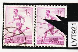 LTV921 ÖSTERREICH 1959 Michl 1069 PLATTENFEHLER FARBWISCHER U.PUNKT Gestempelt - Abarten & Kuriositäten