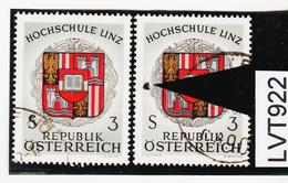 LTV922 ÖSTERREICH 1972 Michl 1401 PLATTENFEHLER GROSSER FARBFLECK Gestempelt - Abarten & Kuriositäten