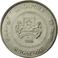 Monnaie, Singapour, 10 Cents, 1986, British Royal Mint, TTB, Copper-nickel - Singapour