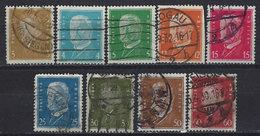 Germany 1928-1932, #366,3657,368,373,374,377,378,381,282, Presidents Ebert & Hindenberg, Used LH - Allemagne