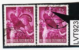 LTV923 ÖSTERREICH 1959 Michl 1062 I PLATTENFEHLER WEISSER KEIL Im BAUMSTAMM Gestempelt - Abarten & Kuriositäten