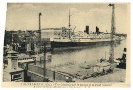 """(765) France - (older Postcard) - St Nazaire Et Paquebot """"Espagne"""" (Spain Cruise Ship) - Dampfer"""