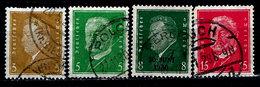 Germany 1928-1932, #366,368,370,374, Presidents Ebert & Hindenberg, Used LH - Allemagne