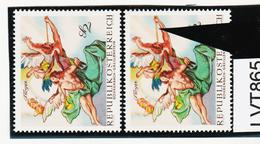 LTV865 ÖSTERREICH 1968 Michl 1279 PLATTENFEHLER DICKE FLÖTE ** Postfrisch - Abarten & Kuriositäten