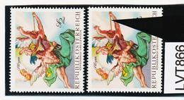LTV866 ÖSTERREICH 1968 Michl 1279 PLATTENFEHLER DICKE FLÖTE ** Postfrisch - Abarten & Kuriositäten