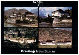 (765) Bhutan To Australia Postcard (temples) With Stamps - Bhutan