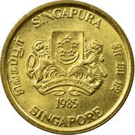 Monnaie, Singapour, 5 Cents, 1985, British Royal Mint, SUP, Aluminum-Bronze - Singapour