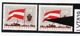 LTV839 ÖSTERREICH 1963 Michl 1132 PLATTENFEHLER VERSCHOBENER DRUCK ** Postfrisch - Abarten & Kuriositäten