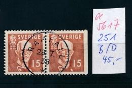 Schweden Nr. 251 DB    O   (  Ee5617 ) Siehe Scan....! - Oblitérés