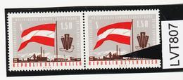 LTV807 ÖSTERREICH 1963 Michl 1132 PLATTENFEHLER FENSTER BELEUCHTET ** Postfrisch - Abarten & Kuriositäten