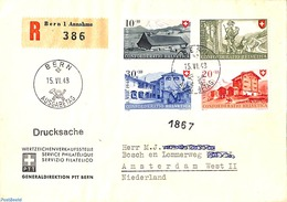 Switzerland 1948 Registered Letter To Amsterdam, (Postal History) - Schweiz