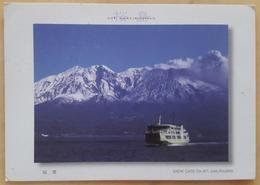 SNOW CAPS ON MOUNT SAKURAJIMA - Kagoshima - BOAT VOLCANO  Nv - Giappone