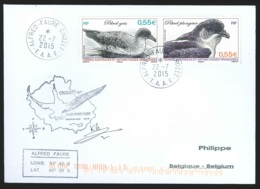 TAAF - Crozet - Ornithologie 52e Mission Oblit Alfred Faure 22/07/2015 (oiseaux) - French Southern And Antarctic Territories (TAAF)
