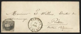 L. Affr. N°6 Bien Margé P162 TAMINES/1863 Pour Piéton - 1851-1857 Medallions (6/8)