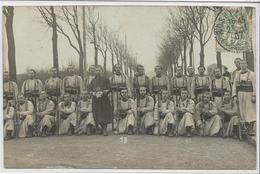 78 ROSNY . 4ème Légion De Zouaves , Carte-Photo , édit : Sans , écrite En 1907 ,  état Extra - Rosny Sur Seine