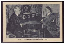 Sammelbild (006670) Der 2. Weltkrieg Im Bild, Serie 1, Bild 5, Das Abkommen Ist Unterzeichnet - Zigaretten
