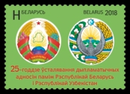 Belarus 2018 Joint IssueUzbekistan 25Y Diplomatic Relations 1v MNH - Belarus