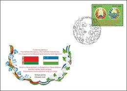 Belarus 2018 Joint Issue Azerbaijan 25Y Diplomatic Relations FDC - Belarus