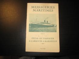 8209- 2018   LIVRET 1929 DES MESSAGERIES MARITIMES..PAQUEBOT ATHOS..DESTINATION ARRIVEE A MARSEILLE - Bateaux