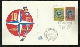 10éme ANNIVERSAIRE DE L'OTAN . 31 MAI 1959 . LUXEMBOURG . - FDC