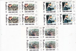 Jordan 1993, Safe Return Of King Sv. Cpl Set MNH, BLOC'S OF 4- Scarce- Reduced Price - SKRILL PAYMENT ONLY - Jordan