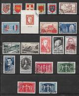 France Timbres De 1949  N°834 A 852 Complet Oblitérés - France