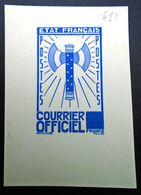 FRANCE 1942 - Timbre De Service  10f ,Yvert#13 , Maury#13 - Essai  En Bleu - RARE ! - Officials