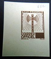 FRANCE 1942 - Timbre De Service  10f ,Yvert#13 , Maury#13 - Essai  En Bleu - RARE ! - Autres