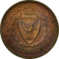 Monnaie, Chypre, 5 Mils, 1980, TB+, Bronze, KM:39 - Chypre