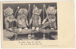 Kat / Chat / Cat / Katze: 'De Dobbers Liggen Stil, Heel Stil...' - (Holland) - Dierenhumor No.14 - Geklede Dieren