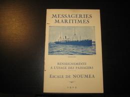 8214- 2018   LIVRET 1929 DES MESSAGERIES MARITIMES..PAQUEBOT ANDROMEDE..DESTINATION  ESCALE DE NOUMEA - Bateaux