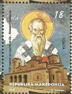 MK 2016-749 1100A°Hl. KLIMENT OF OHRID, MAKEDONIA, 1 X 1v, MNH - Mazedonien