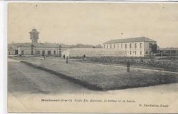 78 MONTESSON . Ecole Th Rousset , La Ferme Et La Serre , édit : G Baudinière Rueil , écrite En 1906 , état Extra - Montesson