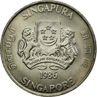 Monnaie, Singapour, 20 Cents, 1986, British Royal Mint, SUP, Copper-nickel - Singapour
