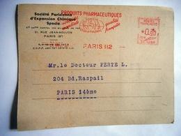 CARTE PUBLICITAIRE MACHINE A AFFRANCHIR SC 0350 PRODUITS PHARMACEUTIQUES SPECIA RHONE POULENC 1946 - Marcophilie (Lettres)