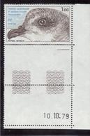 B5 - TAAF PO82** MNH De 1979 - Faune - PETREL SOYEUX. Grand Coin De Feuille Daté. - Terres Australes Et Antarctiques Françaises (TAAF)