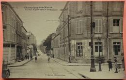 CARTE CHAMPIGNY SUR MARNE - 94 - LA RUE MIGNON VERS LA GARE - SCAN RECTO/VERSO -10 - Champigny Sur Marne