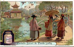CHROMO - LIEBIG -  PALAIS IMPERIAUX CHINOIS-  FETE DES CERFS VOLANTS DANS LES JARDINS IMPERIAUX - Liebig