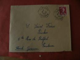 Aveyron Alpuech Recette Auxiliaire Sur Lettre - Marcophilie (Lettres)