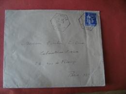 Aveyron  Graissac Recette Auxiliaire Obliteration Sur Lettre - Marcophilie (Lettres)