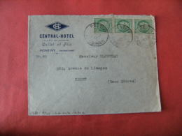 Central Hotel Cullet Pontivy  Enveloppe Commerciale - France