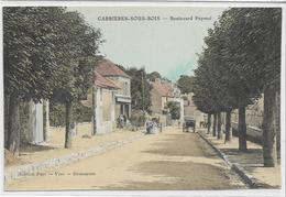 78 CARRIERES-SOUS-BOIS . Boulevard Paymal Animé , édit : Puis Vins-rest , Années 10 , état Extra - Autres Communes