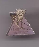 Pin's 7 Eme Piera Menta Tivoly 1992 Ski Skieur Réf 1200 - Sports D'hiver