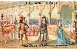 CHROMO LA CHICOREE LA SANS RIVALE A. HAQUET LILLE  LA BICHE AU BOIS  LE GRAND PALAIS D'AIKA - Trade Cards