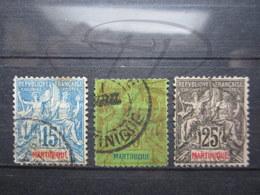 VEND TIMBRES DE MARTINIQUE N° 36 - 38 !!! - Martinique (1886-1947)