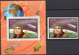 Manama  Block + Marke   In Memoriam Gagarin - Raumfahrt